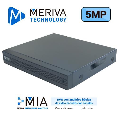 DVR H.265 12 CANALES 5MP HD PENTAHIBRIDO MERIVA TECHNOLOGY MSDV-5108 / 8CH BNC / 4CH IP / SALIDA BNC+VGA+HDMI SIMULTANEA / P2P-CLOUD / SO. N9000 / TECNOLOGIAS AHD/TVI/CVI/960H/IP. 1 ENTRADA Y 1 SALIDA DE AUDIO / ALMACENAMIENTO LOCAL HASTA 6TB