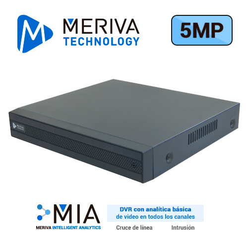 DVR H.265 24 CANALES 5MP HD PENTAHIBRIDO MERIVA TECHNOLOGY MSDV-5116 / 16CH BNC / 8CH IP / SALIDA BNC+VGA+HDMI SIMULTANEA / P2P-CLOUD / SO. N9000 / TECNOLOGIAS AHD/TVI/CVI/960H/IP. 1 ENTRADA Y 1 SALIDA DE AUDIO / ALMACENAMIENTO LOCAL HASTA 8TB