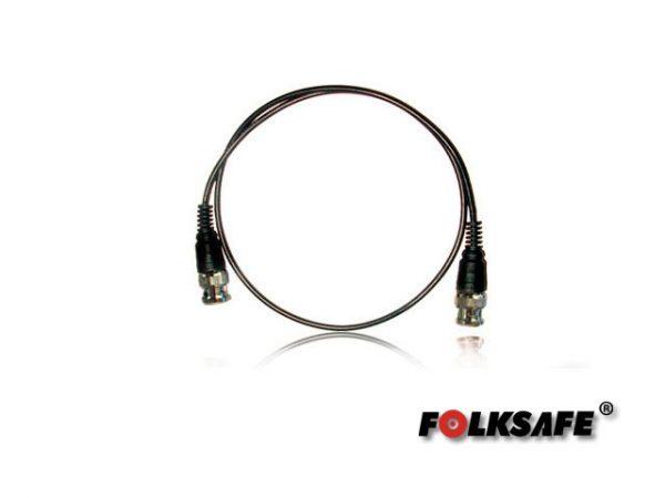 CABLE VIDEO DELGADO CON CONECTORES BNC ARMADO 60CMS FOLKSAFE FS-BNC60