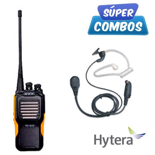 SUPER COMBO HYTERA 1 TC610P-UHF + 1 EAN04 DE REGALO