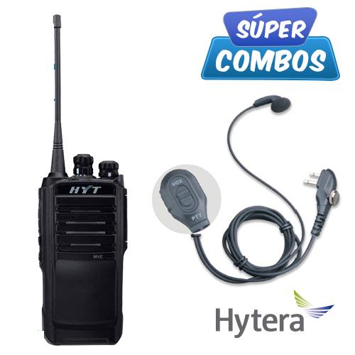 SUPER COMBO HYTERA 1 TC508-VHF + 1 ESM12 DE REGALO