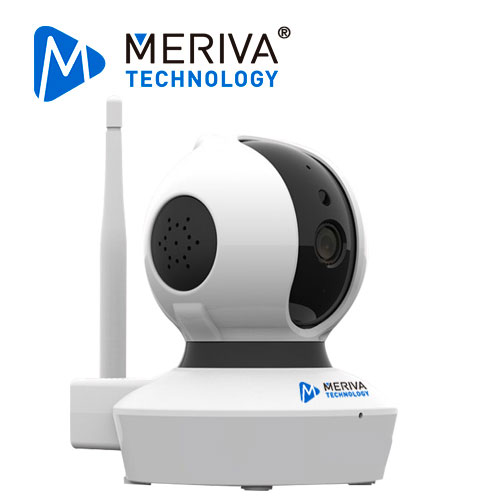 CAMARA SMART HOME MERIVA TECHNOLOGY MC23S PT / 1080P-2MP / H.264 / 4 MM / 10M IR / SLOT MICRO SD / AUDIO BI DIRECCIONAL / WI-FI / P2P / CLOUD / 5 VDC