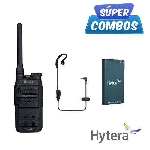 SUPER COMBO HYTERA 1 BD302U + 1 EHS16 + 1 BL2202 DE REGALO