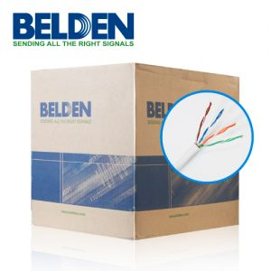 CABLE UTP CAT5E BELDEN 5663U5 009U1000 BLANCO 24AWG ESPECIAL PARA SEGURIDAD 1000FT 305 MTO